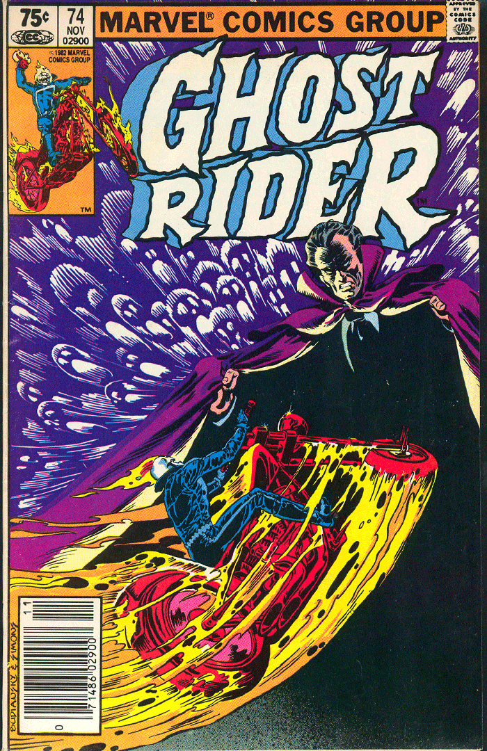 Ghost Rider #74, Type 1A 75¢ Cover Price Variant; Canadian Newsstand