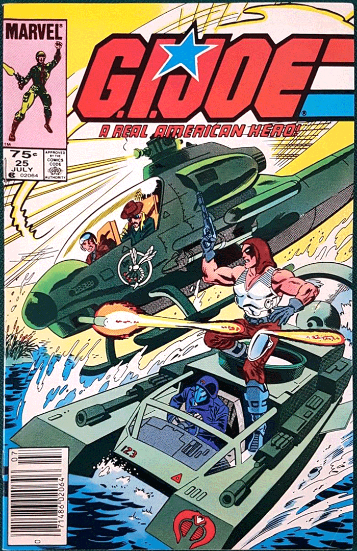 G.I. Joe #25, Type 1A 75¢ Cover Price Variant; Canadian Newsstand