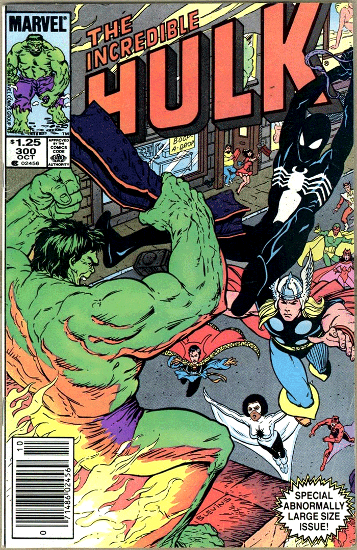 Incredible Hulk #300, Type 1A $1.25 Cover Price Variant; Canadian Newsstand