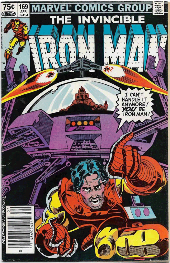 Iron Man #169, Type 1A 75¢ Cover Price Variant; Canadian Newsstand