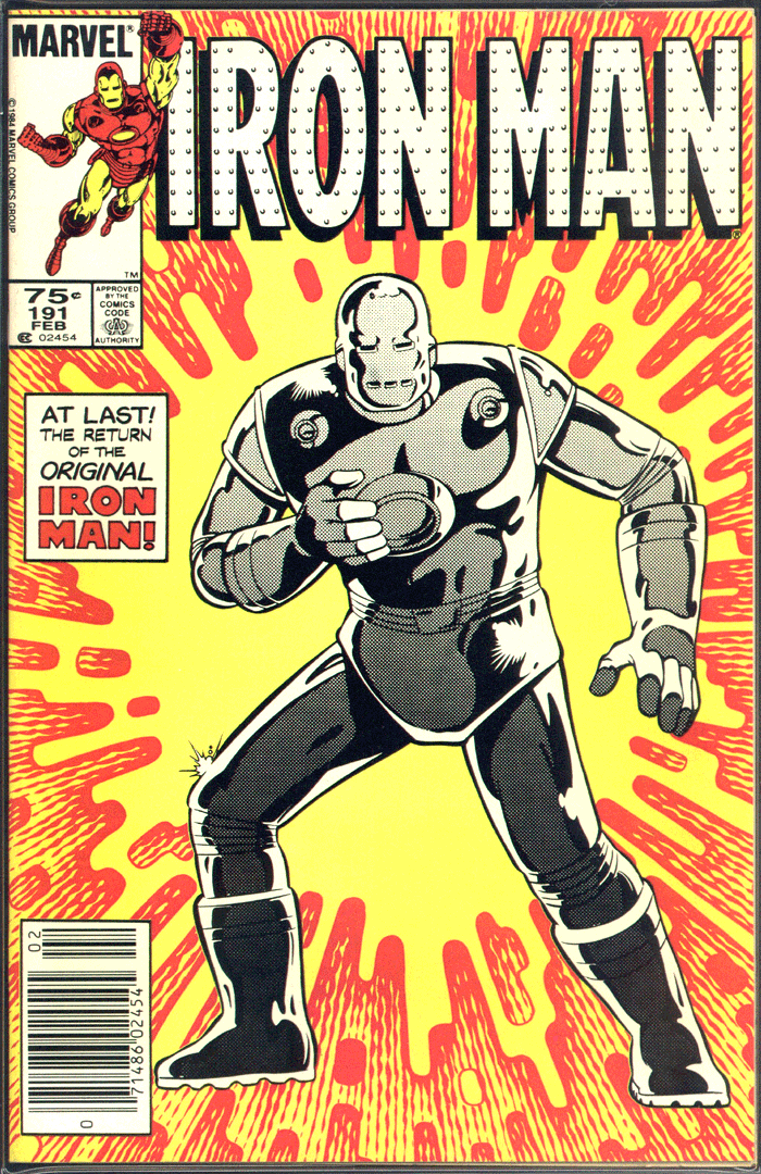 Iron Man #191, Type 1A 75¢ Cover Price Variant; Canadian Newsstand