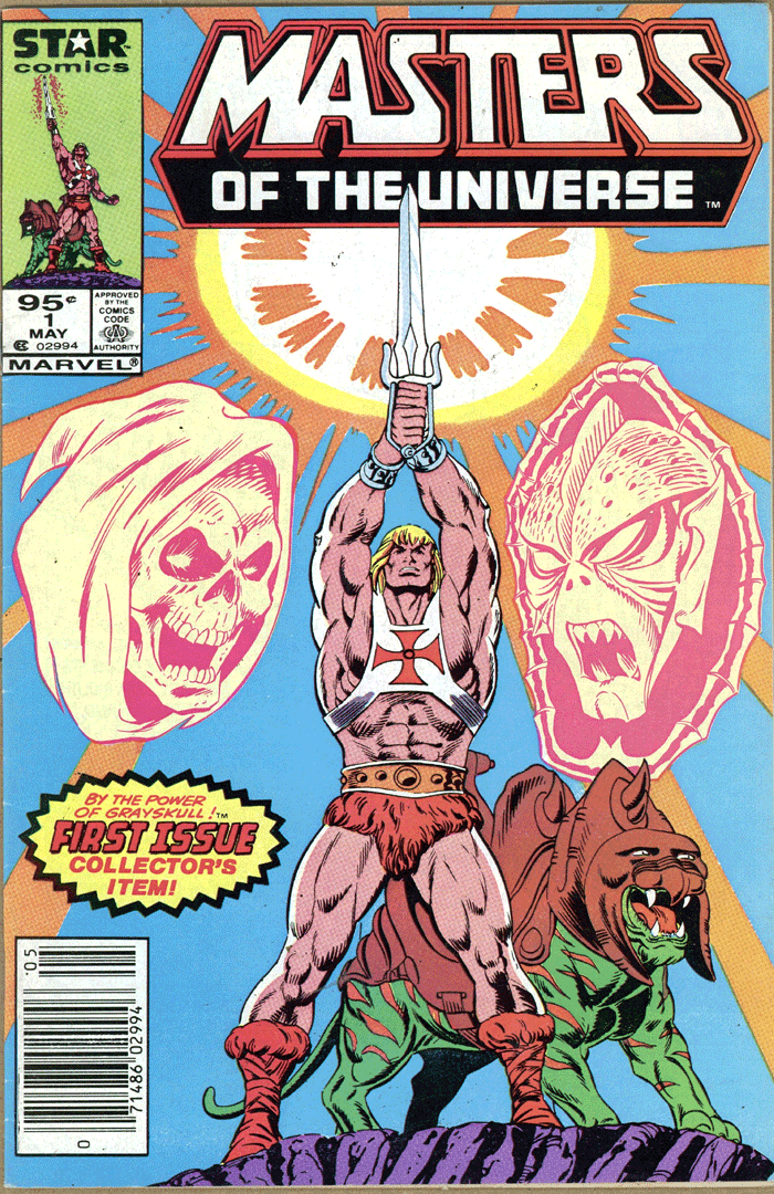 Masters of the Universe #1, Type 1A 95¢ Cover Price Variant; Canadian Newsstand