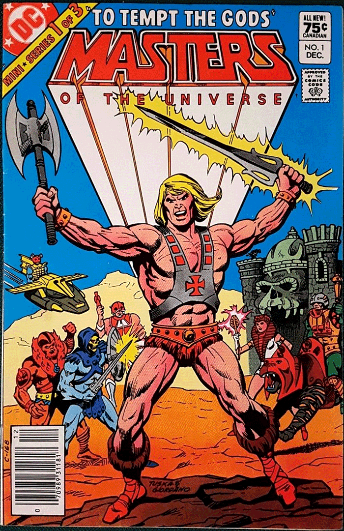 Masters of the Universe #1, Type 1A 75¢ Cover Price Variant; Canadian Newsstand
