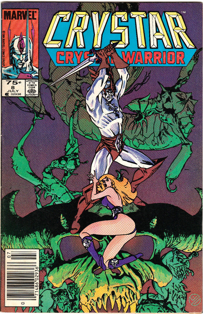 Saga of Crystar #8, Type 1A 75¢ Cover Price Variant; Canadian Newsstand