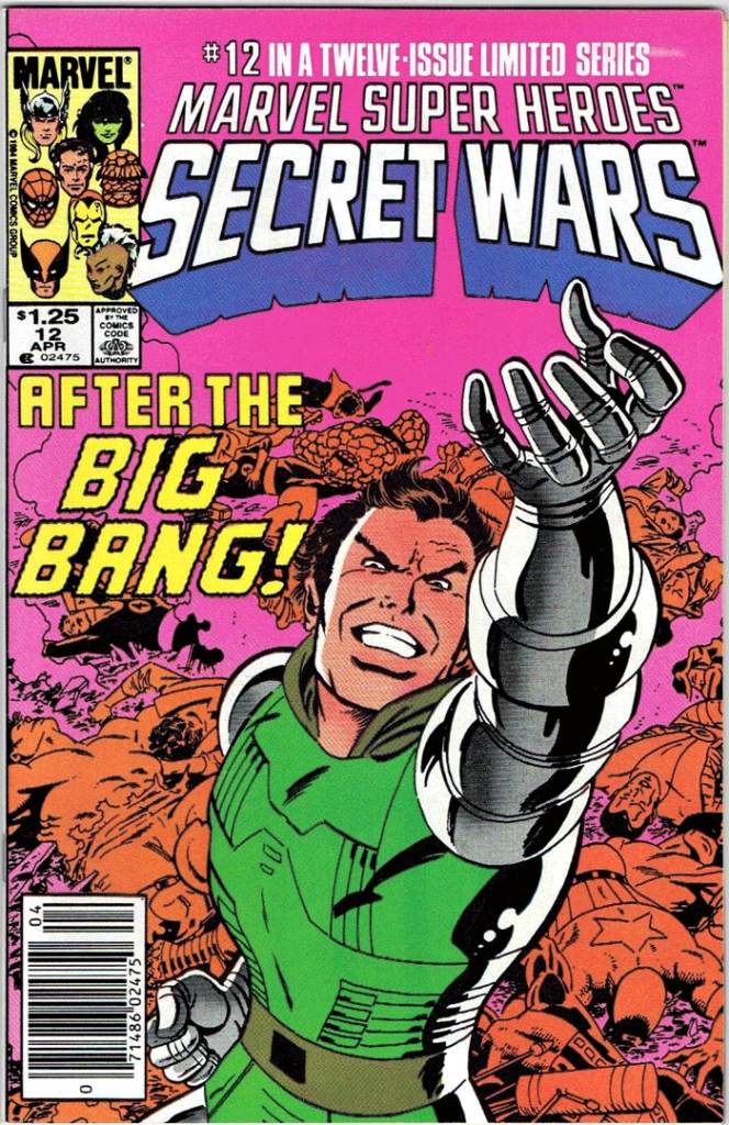 Marvel Super Heroes Secret Wars #12, Type 1A $1.25 Cover Price Variant; Canadian Newsstand