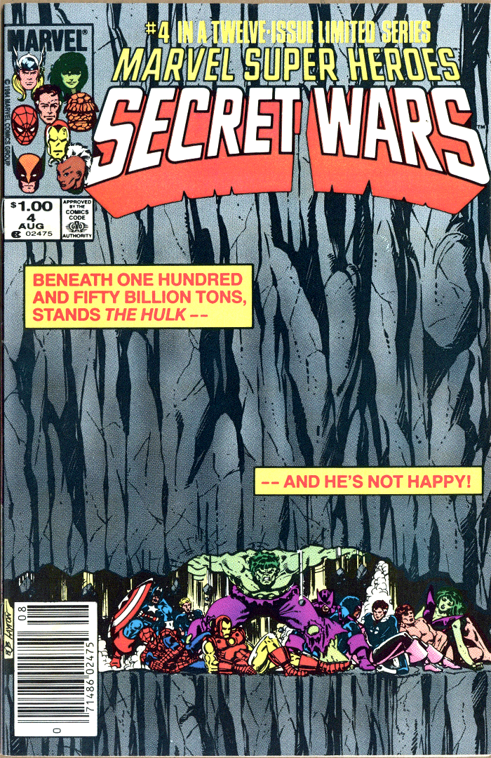 Marvel Super Heroes Secret Wars #4, Type 1A $1.00 Cover Price Variant; Canadian Newsstand