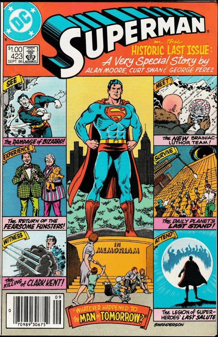 Superman #423, Type 1A $1.00 Cover Price Variant; Canadian Newsstand