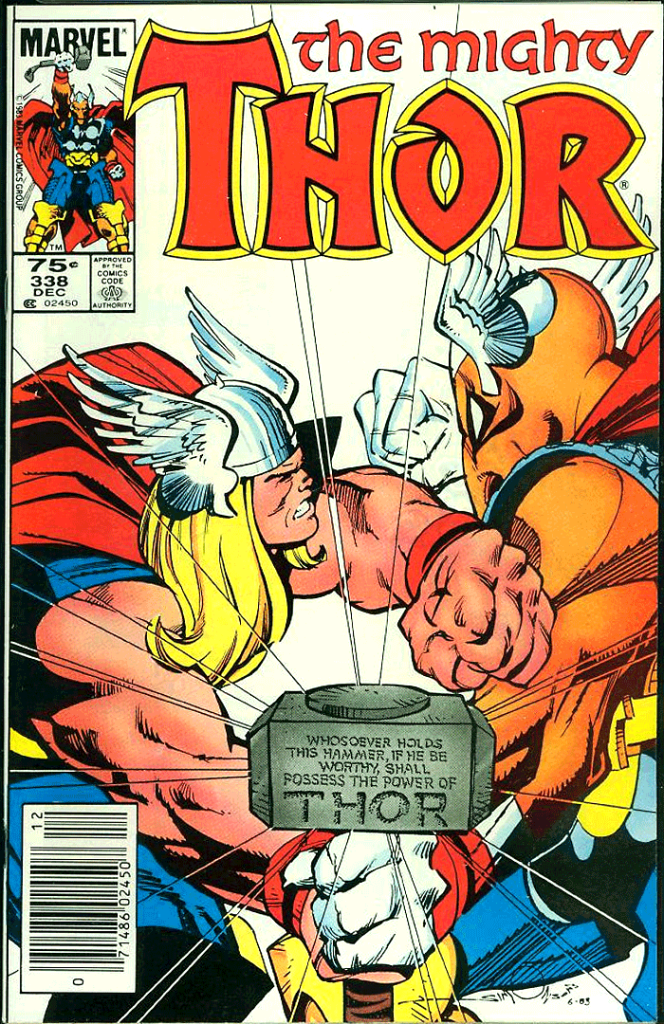 Thor #338, Type 1A 75¢ Cover Price Variant; Canadian Newsstand