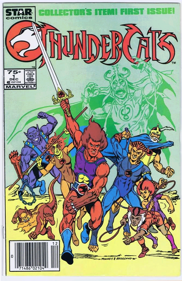 ThunderCats #1, Type 1A 75¢ Cover Price Variant; Canadian Newsstand