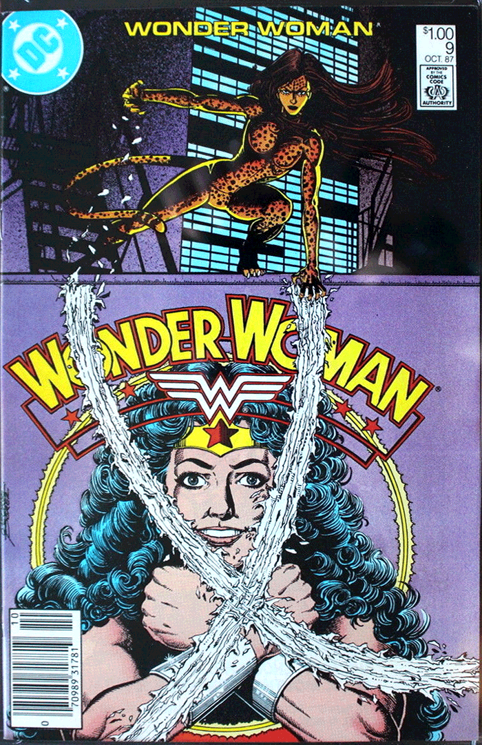 Wonder Woman #9, Type 1A $1.00 Cover Price Variant; Canadian Newsstand