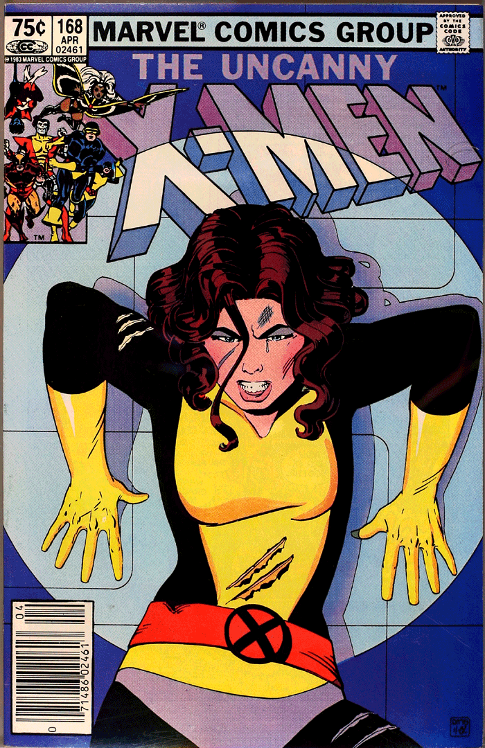 X-Men #168, Type 1A 75¢ Cover Price Variant; Canadian Newsstand