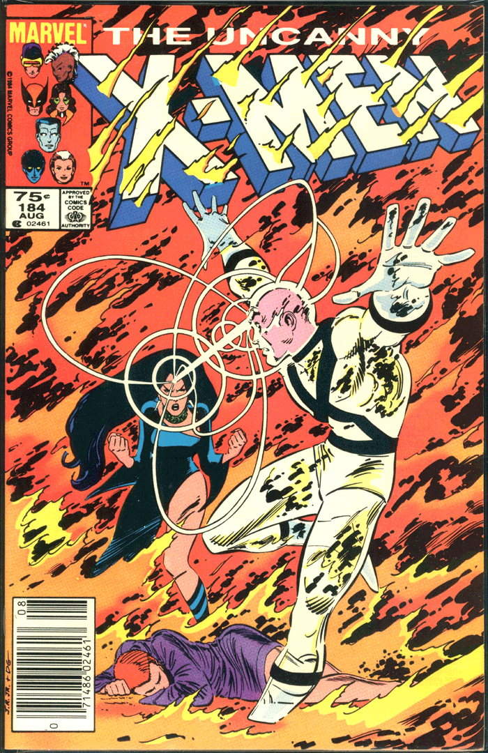 X-Men #184, Type 1A 75¢ Cover Price Variant; Canadian Newsstand