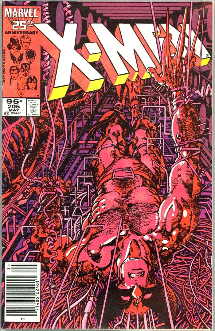 X-Men #205, Type 1A 95¢ Cover Price Variant; Canadian Newsstand