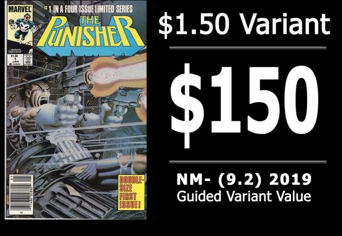 #11: Punisher #1, 2019 NM- Variant Value = $150