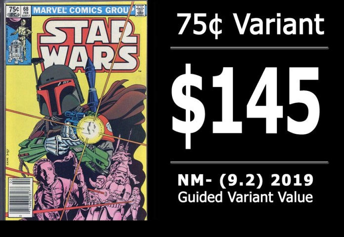 #12: Star Wars #68, 2019 NM- Variant Value = $145