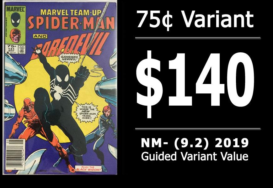 #13: Marvel Team-Up #141, 2019 NM- Variant Value = $140