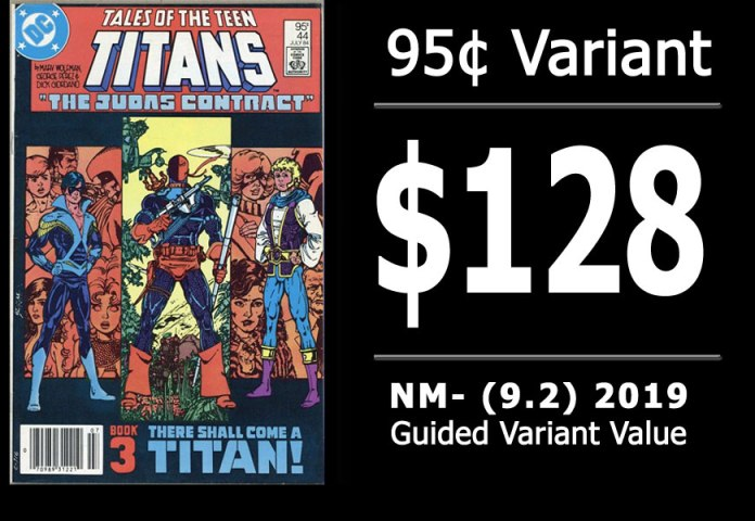 #14: Tales of the Teen Titans #44, 2019 NM- Variant Value = $128