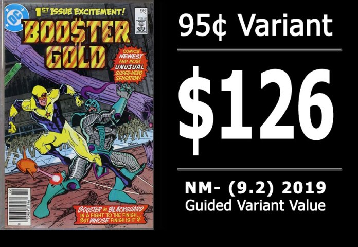 #15: Booster Gold #1, 2019 NM- Variant Value = $126