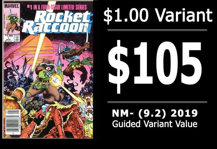 #18: Rocket Raccoon #1, 2019 NM- Variant Value = $105