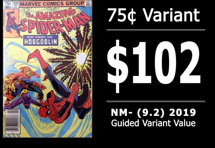 #19: Amazing Spider-Man #239, 2019 NM- Variant Value = $102