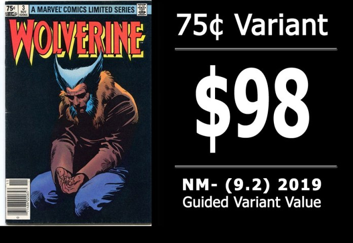 #21: Wolverine Limited Series #3, 2019 NM- Variant Value = $98