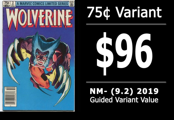 #22: Wolverine Limited Series #2, 2019 NM- Variant Value = $96