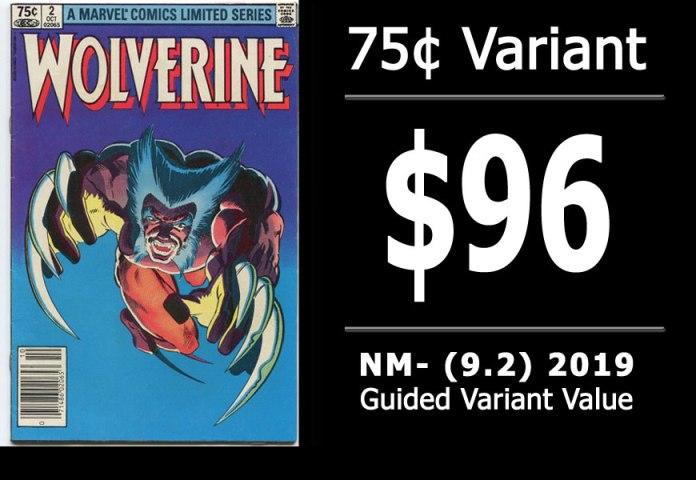 #22: Wolverine Limited Series #2, 2019 NM- Variant Value = $96
