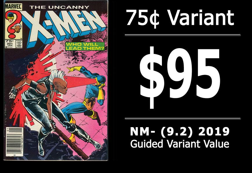 #24: Uncanny X-Men #201, 2019 NM- Variant Value = $95