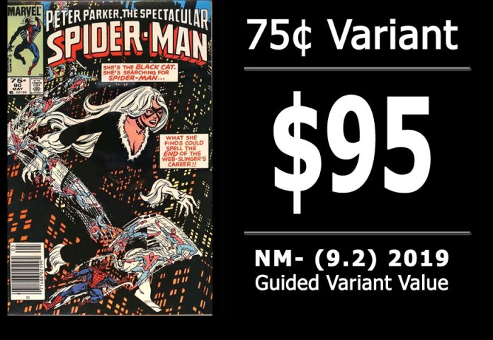 #25: Spectacular Spider-Man #90, 2019 NM- Variant Value = $95