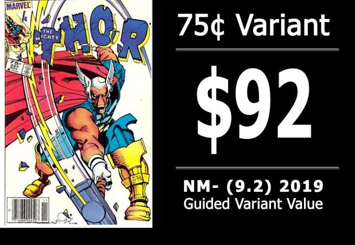 #27: Thor #337, 2019 NM- Variant Value = $92