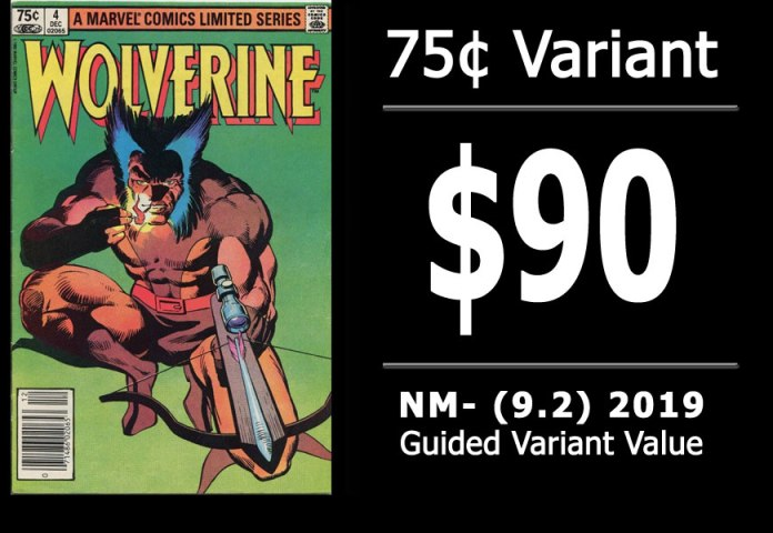 #28: Wolverine Limited Series #4, 2019 NM- Variant Value = $90