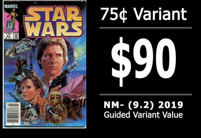 #29: Star Wars #81, 2019 NM- Variant Value = $90