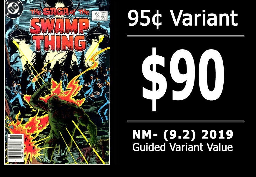 #30: Saga of the Swamp Thing #20, 2019 NM- Variant Value = $90