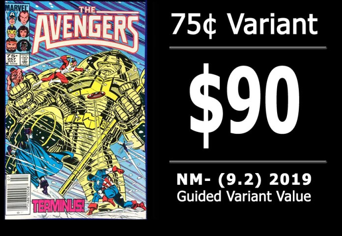#31: Avengers #257, 2019 NM- Variant Value = $90