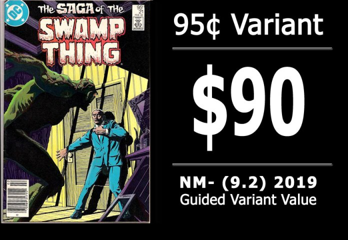 #32: Saga of the Swamp Thing #21, 2019 NM- Variant Value = $90