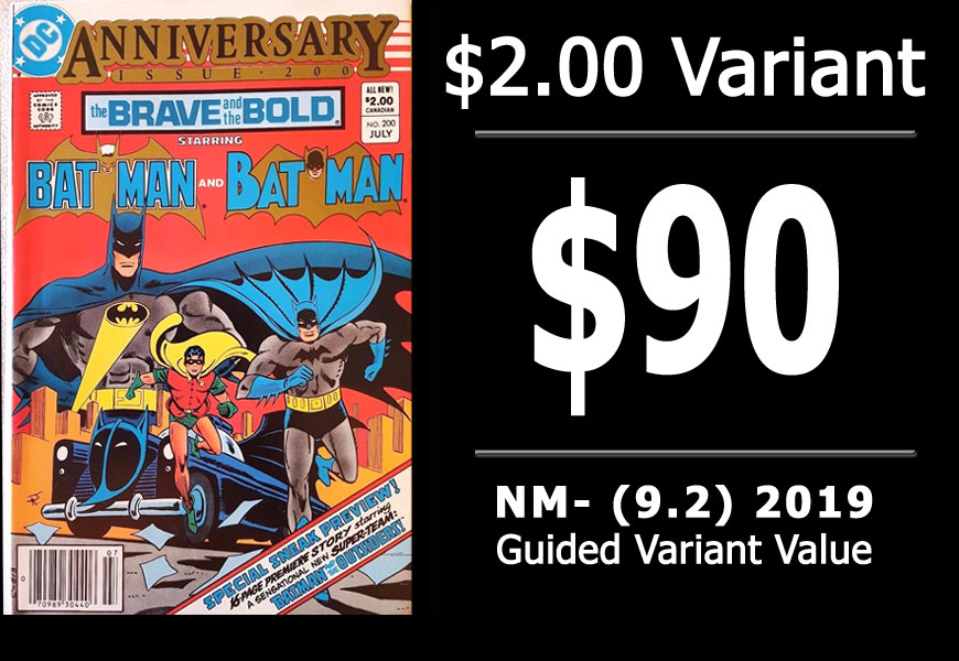 #34: Brave and the Bold #200, 2019 NM- Variant Value = $90