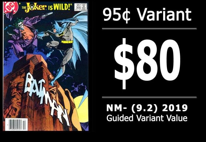 #36: Batman #366, 2019 NM- Variant Value = $80