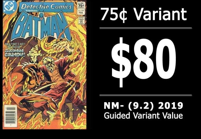 #37: Detective Comics #523, 2019 NM- Variant Value = $80