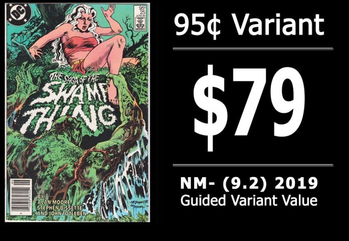 #38: Saga of the Swamp Thing #25, 2019 NM- Variant Value = $79