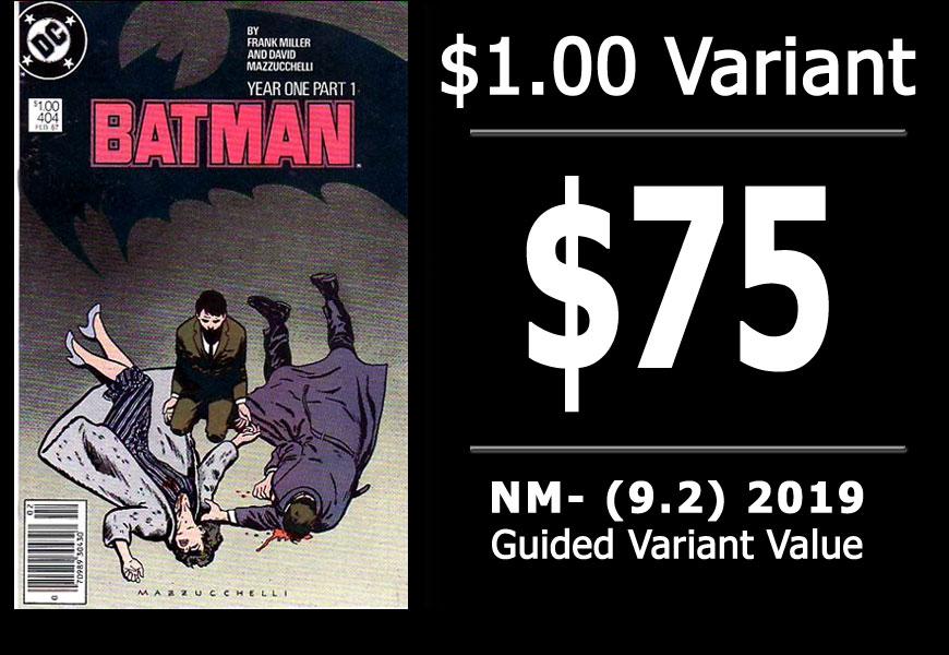 #39: Batman #404, 2019 NM- Variant Value = $75