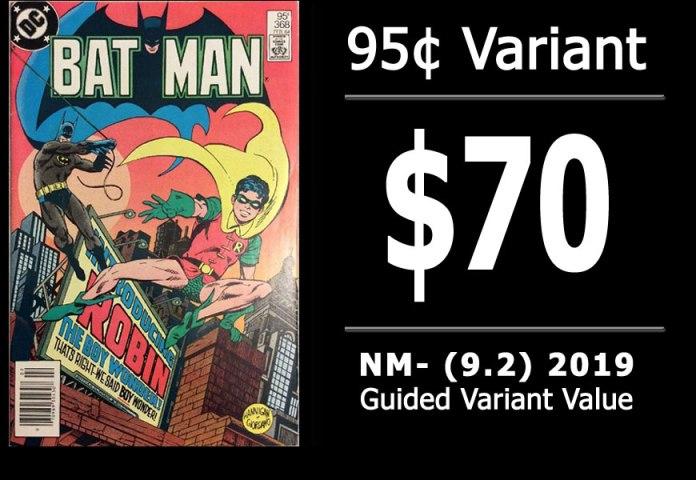 #41: Batman #368, 2019 NM- Variant Value = $70