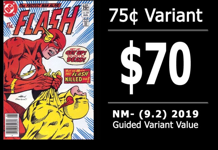 #43: Flash #324, 2019 NM- Variant Value = $70