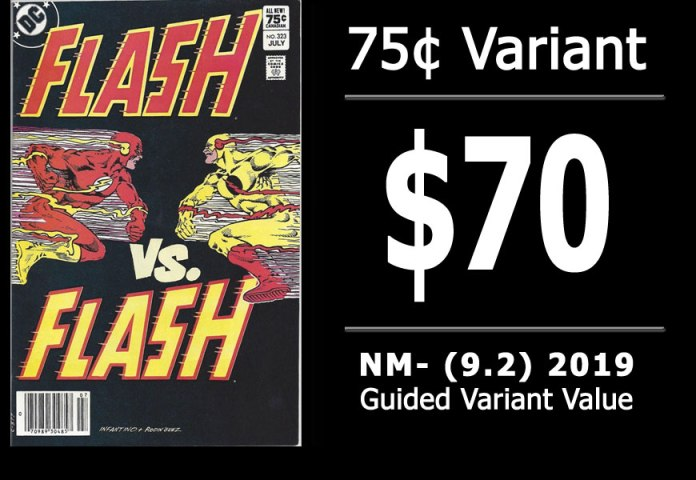 #44: Flash #323, 2019 NM- Variant Value = $70