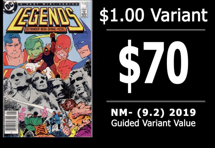 #45: Legends #3, 2019 NM- Variant Value = $70