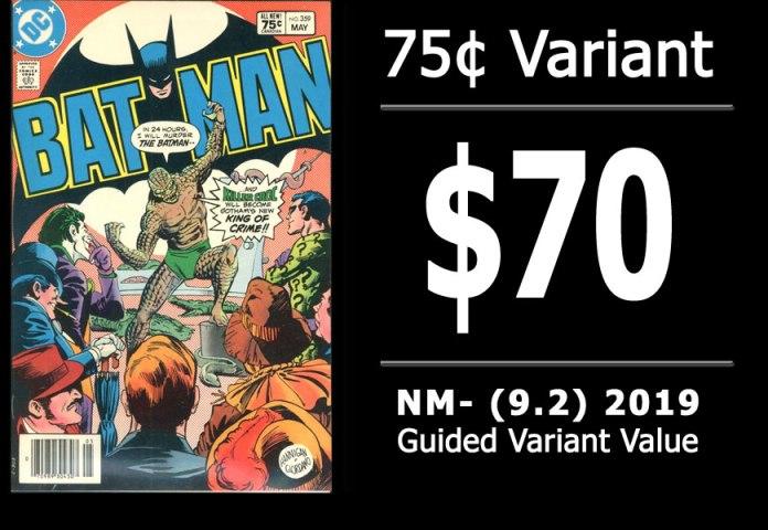 #46: Batman #359, 2019 NM- Variant Value = $70