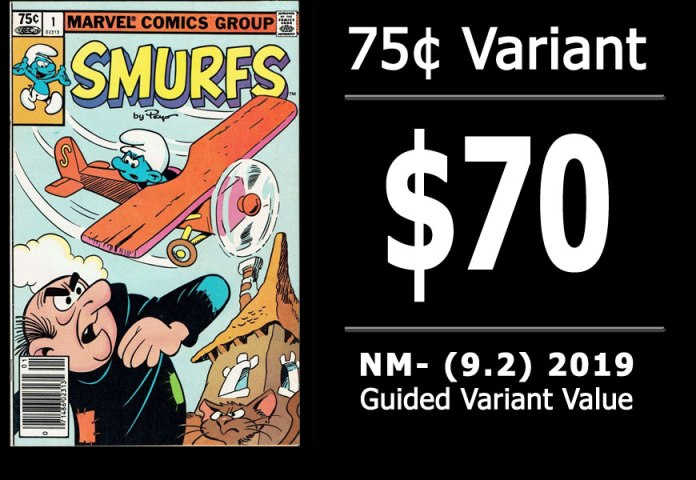 #47: Smurfs #1, 2019 NM- Variant Value = $70