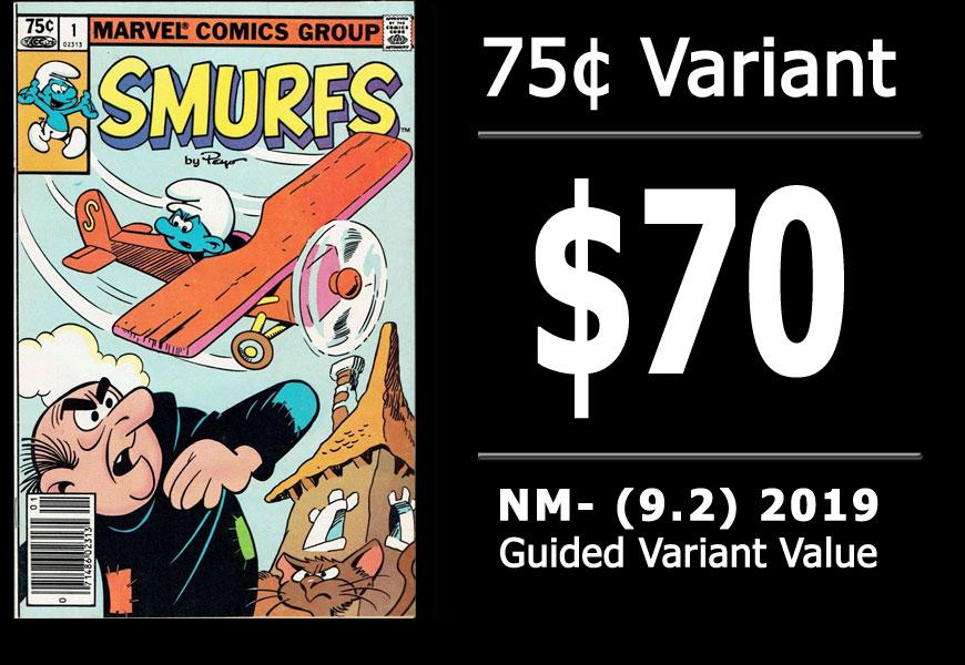 #47: Smurfs #1, 2019 NM- Variant Value = $70