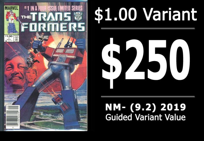 #5: Transformers #1, 2019 NM- Variant Value = $250