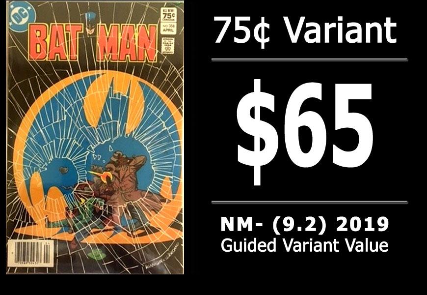 #54: Batman #358, 2019 NM- Variant Value = $65