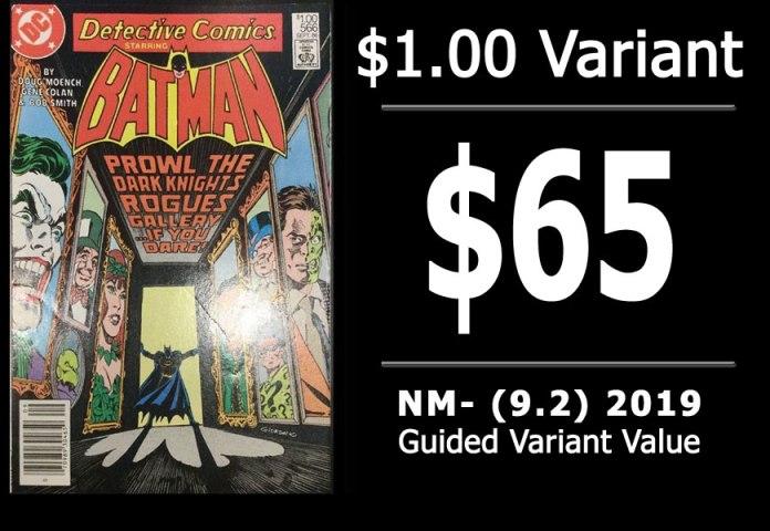 #55: Detective Comics #566, 2019 NM- Variant Value = $65